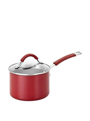 KitchenAid Nonstick 2-Qt. Covered Straining Saucepan (Red)