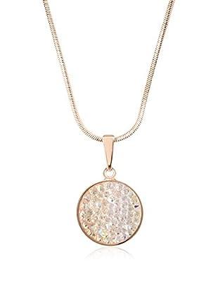 Annie Ram Halskette Round Crystal Rock rosévergoldet