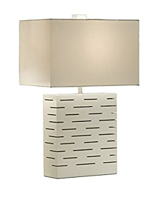 Nova Lighting Rift Reclining Table Lamp, White/Nickel