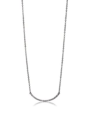 Chloe & Theodora CZ Curve Bar Necklace