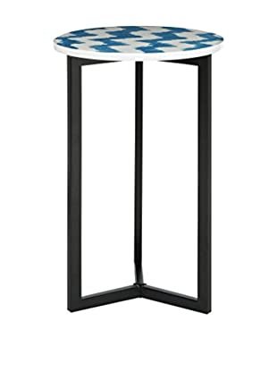 Safavieh Zaira End Table, Blue/White