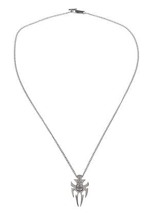 Rebecca LTRMDD54 - Collar unisex de acero inoxidable con 5 diamantes
