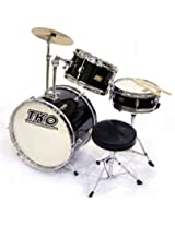 TKO 3-piece Childrens Drum Set with Throne & Cymbal - Black