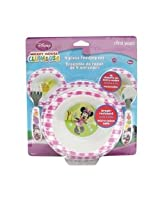 The First Years Minnie Feeding Set Polypro with Easy Grasp Flatware,Pack of 4 (Multicolor)