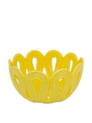 Three Hands Ceramic Decorative Bowl, Yellow
