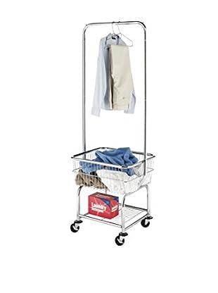 Whitmor Commercial Laundry Butler, Chrome/White