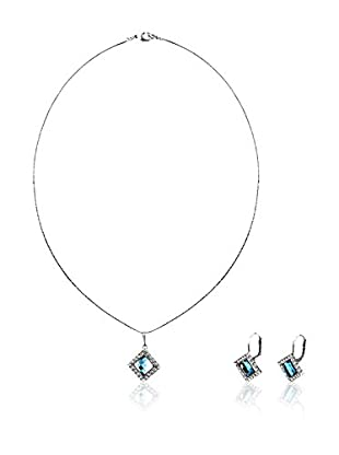 SWAROVSKI ELEMENTS Conjunto de collar y pendientes Rumble Cielo