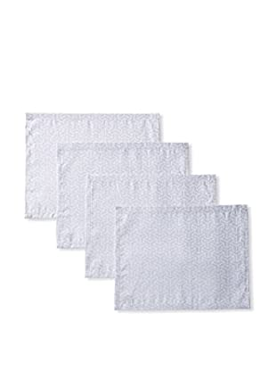 Garnier-Thiebaut Set of 4 Epsilon 2D Placemats, Silver