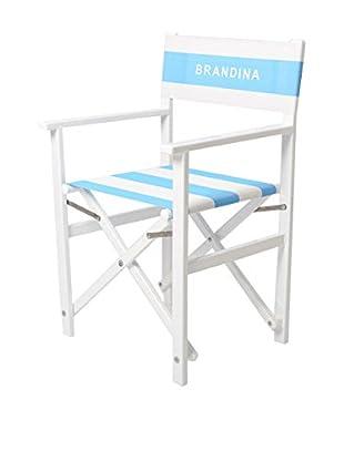 Brandina Stuhl Ondina weiß/himmelblau