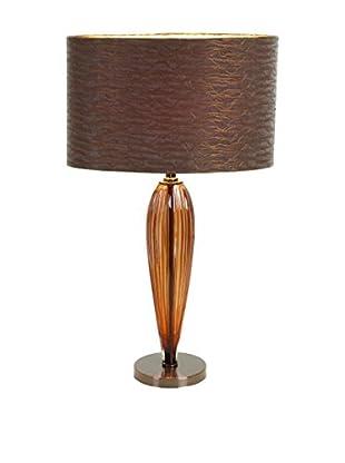 Glass Metal Table Lamp, Brown