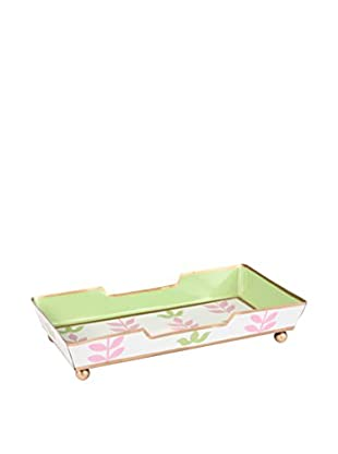 Jayes Foliage Guest Towel Tray, Pink