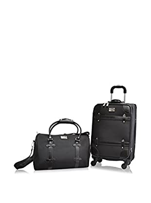 Adrienne Vittadini Metro Collection 2-Piece Carry-On Set, Black