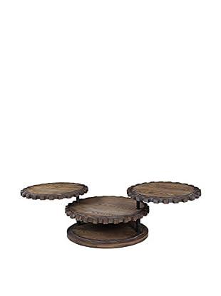 Bassett Mirror Company Sprockets Cocktail Table, Weathered Oak