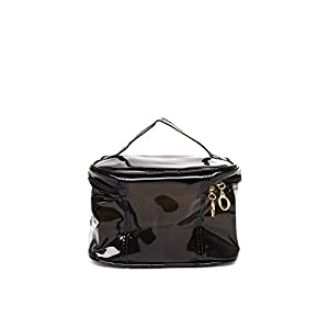Toniq Multi Purpose Transparent Utility Handbag (Black) for Women