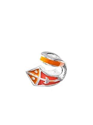 Angel Devil Abalorio de Plata de Ley 925 3D Cometa Naranja