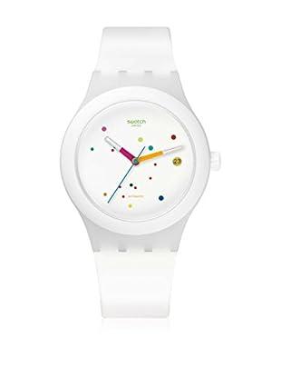 Swatch Reloj automático Unisex Sistem White  42 mm
