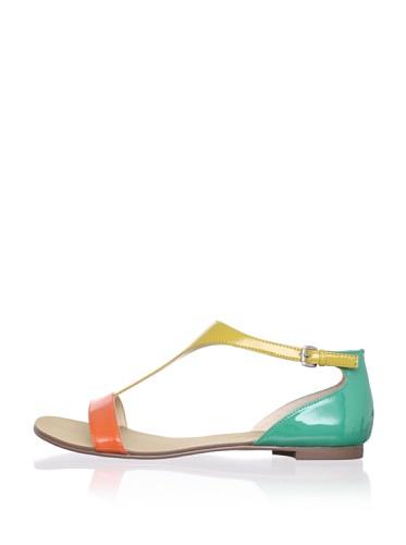 Boutique 9 Women's Piraya Sandal (Orange Multi)