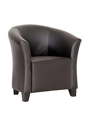 Baxton Studio Jackson Club Chair, Dark Brown
