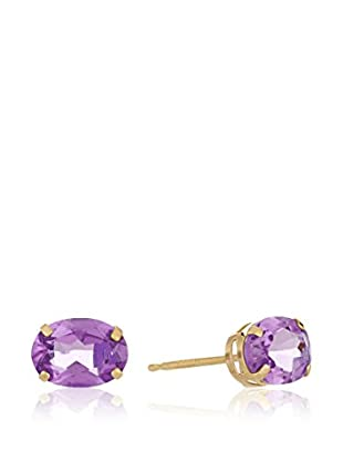 GOLD & DIAMONDS Pendientes Amatista oro amarillo 18 ct