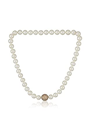 Bentelli Collar 925 Silver Pearls Cubic Zirconia plata de ley 925 milésimas / Beige