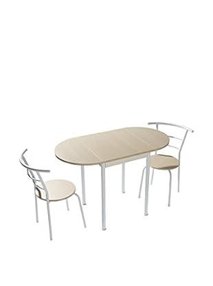 kitchen Furniture Kit de Mesa con Sillas 3 Piezas Blanco