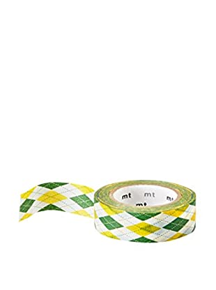mt Masking Tape Argyle Decorative Tape, Green/Yellow, 32.8 ft.