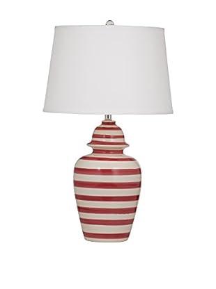 Bassett Mirror Company Porter 1-Light Table Lamp, Red Stripe