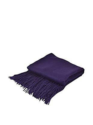 PÜR Cashmere Signature Blend Throw, Aubergine
