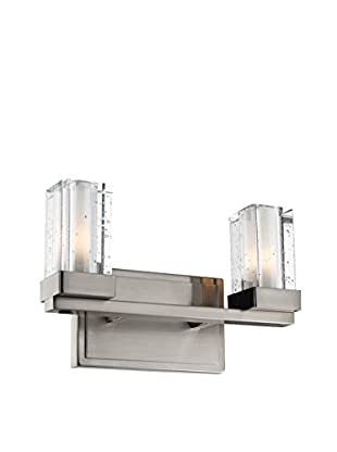 Feiss 2-Light Tonic Vanity Strip, Brushed Steel