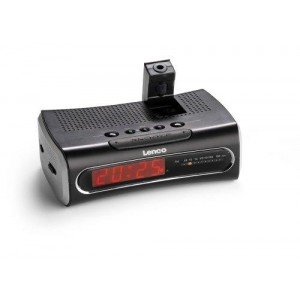 Lenco CR3301 Clock Radio with Time Projection
