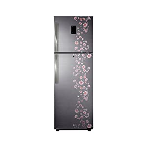 Samsung 345L 5 Star RT36FDJFALX/TL Double Door Refrigerator-Orcherry Peach Silver
