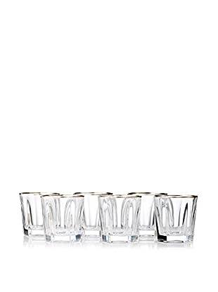 A Casa K Victoria Set of 6 Crystal & Platinum 8.5-Oz. Tumblers