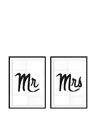 Really Nice Things Wandbild 2er Set Mr & Mrs
