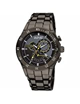 August Steiner Chronograph Black Dial Black Ion-Plated Metal Mens Watch As8083Bk