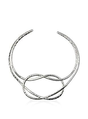 GoldBarr Silver Anika Knot Collar