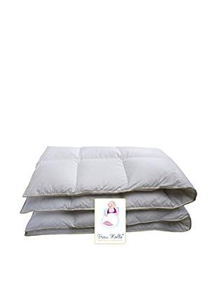 Frau Holle Kassettenbett mit 4 cm Innensteg, 5x7 Karos, Wärmeklasse warm weiß