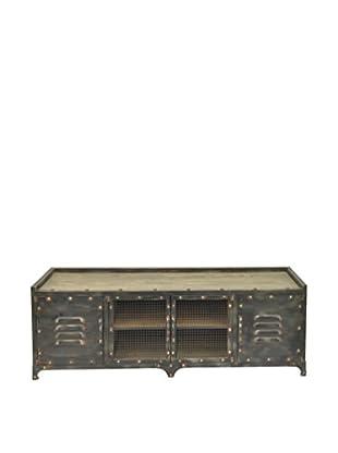 Three Hands Wood & Metal Cabinet, Brown