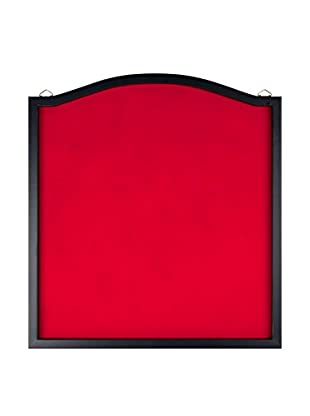 Dart Backboard with Solid Wood Frame & Red Felt, Red