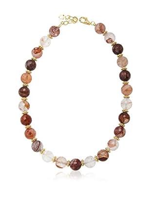 ETRUSCA Halskette  rot/braun