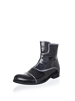 i.am  Men's Glossy Ankle Boot (High Gloss Black)