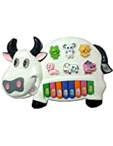 Khanak Musical Cow Educational Piano Keyboard Toy Game for Kids Children (Colors May Vary)