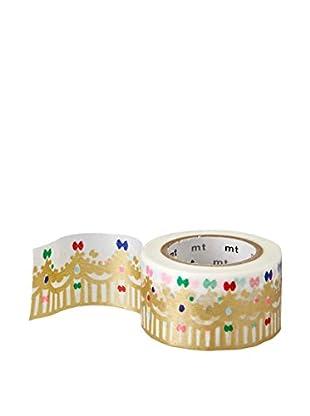 mt Masking Tape Crown Decorative Tape, Gold/Multi, 32.8 ft.