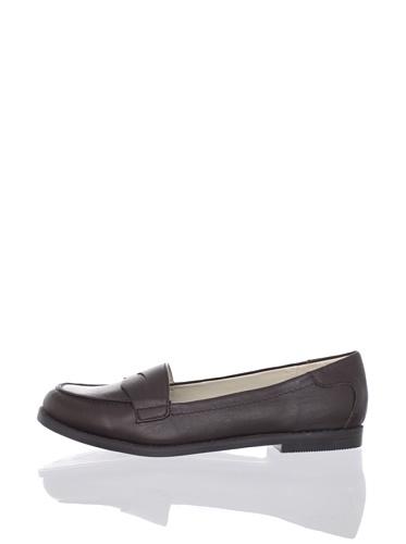 Adrienne Vittadini Women's Mitch Slip-On Loafer (Dark Brown Calf)