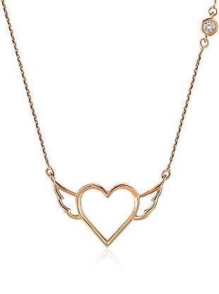 Divas Diamond Collar Diamond Angel Wing Heart Gold