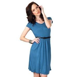 Allen Solly Pleated Women's Dress-Blue