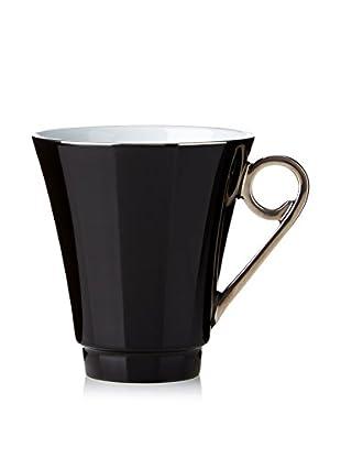 Haviland Laque de Chine Platinum Mug, Noir