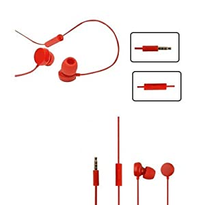Nokia 3.5 mm WH-208 Earphones Handsfree Headset for Nokia Lumia 820 (Red)
