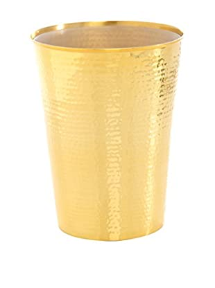 Shiraleah Hammam Waste Basket, Gold