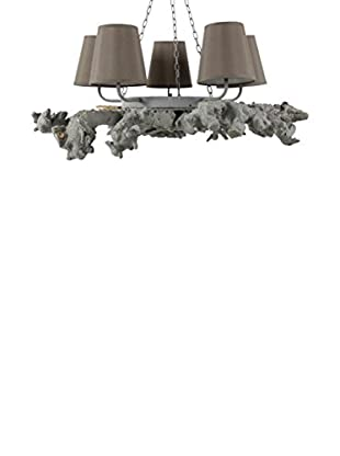 Chandelier, Grey/Taupe