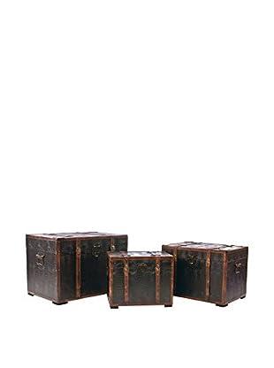 Skalny Set Of 3 Wood Trunks, Wood